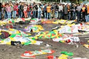 Ninety-five people were killed in an attack by two suspected suicide bombers on a rally of pro-Kurdish and labour activists in Ankara.