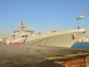 INS Trikand entered the Safaga port for a three-day visit to underscore India's peaceful presence in the region and show solidarity with friendly countries.