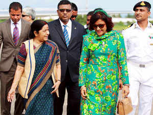 Sushma Swaraj assured the Maldives that India will always be the net security provider to the Indian Ocean archipelago.