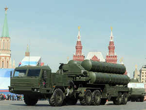 In Pic: A column of Russia's air defence system S-400 Triumf launch vehicles rolls at the Red Square in Moscow, on May 9, 2013, during Victory Day parade.