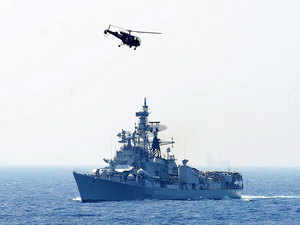 (Representative)In pic: Chetak Helicopter and Ship of the Eastern Fleet during the Navy Day Celebrations to commemorate the courage of Indian Navy during Indo pak War in 1971.