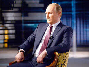 Russian President Vladimir Putin give an interview focused on Russia's action in Syria.