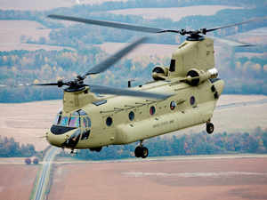 The Boeing chairman also said that on the defence side, the Indian and US governments have to decide the issue of technology sharing.In pic: Chinook helicopter