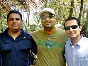 (From left) Prashant Sinha, Asif Mohamed and Vishal Gupta, co-founders, Mycity4kids.