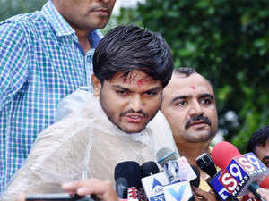 """Rajkot district SP said this evening that the police would be registering an FIR against Hardik Patel for """"insulting"""" the national flag."""