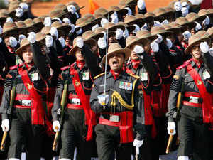 File photo: Marching contingent of Assam Rifles at Rajpath during 64th Republic Day celebrations in New Delhi.