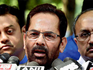"""""""here is a difference between a democratic way and hoologanism. No one accepts such a kind of protest,"""" Union Minister Mukhtar Abbas Naqvi said."""