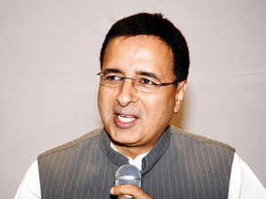 Randeep Surjewala today met sulking BJP MP Shatrughan Sinha amid reports of growing differences between the latter and his party.