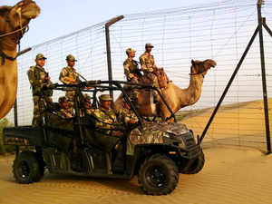 """BSF and the Kutch district police have initiated a joint search operation near the India-Pakistan border in the Rann of Kutch after spotting some suspicious """"footprints""""."""