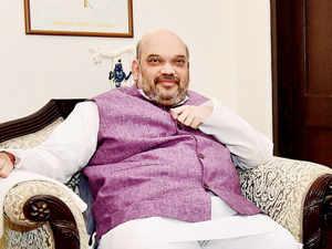 At Paligang, BJP President Amit Shah makes his prediction for the Bihar polls: Nitish Kumar's programme at 2pm on November 8 is fixed.