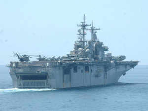 In pic: US warship Boxer LHD 4 during India-US joint Naval exercise in Goa, 29th October 2006.