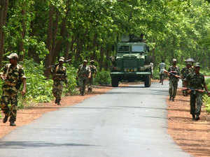 In pic: Central Force's Jawan Patrol The Jhitka forest During Their Operation Against The Maoists, In Lalgarh, West Midnapur.