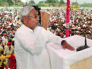 "Seeking to make escalating rate of pulses a poll issue in Bihar, Nitish Kumar said pulses called ""poor man's meat"" has vanished from plate of common man."