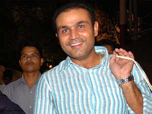 """At the early stage of his career, a not-so comfortable Sehwag used to utter in post-match presentations, """"I just play my natural game. If the ball is there to be hit, I hit it."""""""