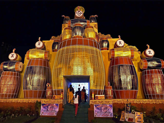 Durga puja in coimbatore festive fervour durga puja celebrations durga puja pandal altavistaventures Image collections