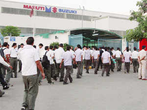 Maruti Suzuki India has hiked wages of temporary workers of its Gurgaon and Manesar plants, including those of Suzuki Powertrain, by an average 10% a month.
