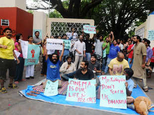 The students of the FTII have been on strike since June to protest against the appointment of BJP MP Gajendra Chauhan as FTII chairman.