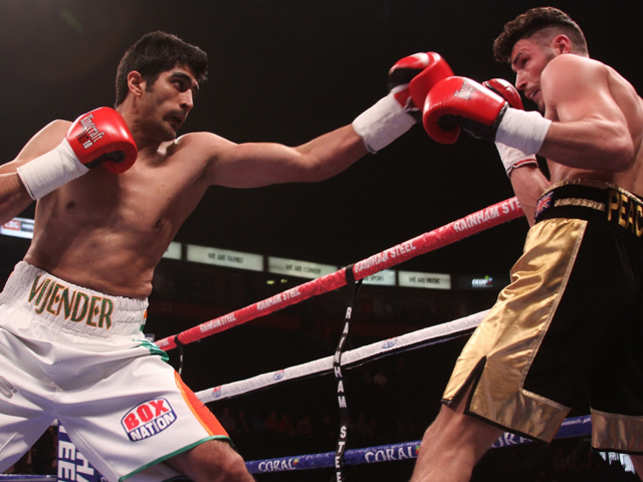 Singh's professional debut on October 10 was easy. He knocked out Sonny Whiting of Britain in three rounds.