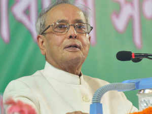 President Pranab Mukherjee left for the national capital today after a four-day stay at his ancestral house at Kirnahar village in West Bengal's Birbhum district.