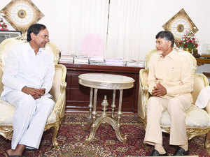 A rare bonhomie between Chief Ministers of Andhra Pradesh and Telangana, N Chandrababu Naidu and K Chandrasekhar Rao respectively, was all too evident at the foundation laying ceremony for AP
