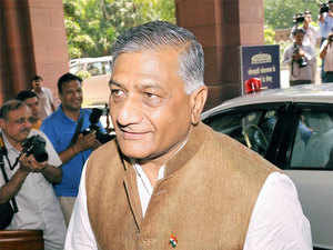 """Opposition National Conference in Jammu and Kashmir today criticised Union minister VK Singh for his dog analogy and demanded """"stern action"""" against him."""