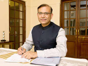 Minister of State for Finance, Jayant Sinha, was interested in how banks are improving and preparing to take on increased competition rather than stories about loans and deposits.