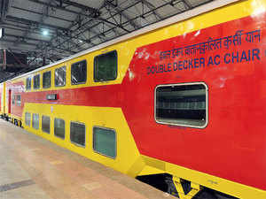 Suresh Prabhu has announced that the Railways would soon start country's first-ever double decker Shatabdi Express that would ply between Mumbai and Goa.  Representative Image