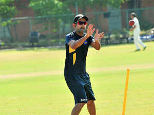 Delhi captain Gambhir, who had been involved in ugly on- field confrontations even in the past, had an angry exchange of words with his Bengal counterpart before the umpire had to step in to defuse the situaion.
