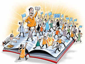 Hundreds of students from across varsities in Delhi, including Delhi University, JNU, Ambedkar University, were camping outside the office of University Grants Commission (UGC) since Wednesday, demanding revoking of the decision.