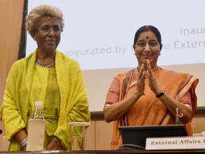 Sushma Swaraj  said India was committed to Africa's economic growth and its integration with global economy.