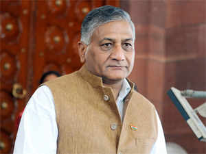 Amidst the outcry over his remarks on the Dalit burning issue, Union minister Gen (retd) VK Singh was today greeted with protests and shown black flags by Left Front supporters during a visit to the city here.