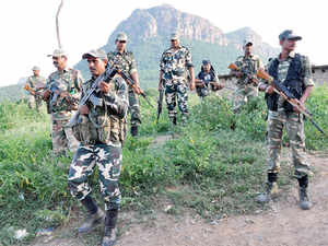 The skirmish took place yesterday in forests under Maraguda police station limits while the paramilitary forces were out on an anti-Naxal operation.