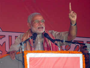 "Modi attacked the grand alliance leaders Nitish Kumar, Lalu Prasad and Sonia Gandhi for trying to ""mislead"" the people on the issue of reservation."