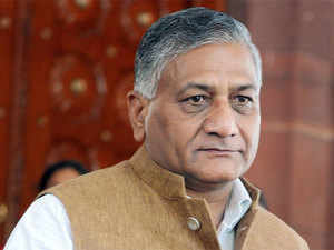 Youth Congress workers today staged a protest outside the residence of Union Minister V K Singh here over his controversial 'dog' remarks on the Dalit burning incident