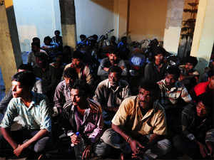 The fishermen have been taken to Talaimannar and Kangesanthurai respectively, he said, adding, seven boats were also seized.