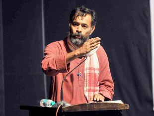 """Terming the drought situation in Uttar Pradesh as alarming, former AAP leader Yogendra Yadav today demanded that the state be declared as """"drought-hit"""" and the most affected Bundelkhand region """"calamity-hit""""."""