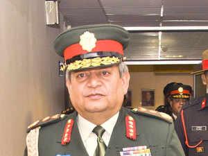 Nepal Army Chief, General Gaurav Shamsher Jang Bahadur Rana.