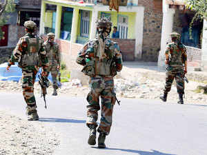 A gunfight broke out today between security forces and militants in the forest area of Bandipora district, about 45 kms from here, police said.