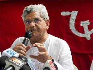 """In a jibe at Modi, Yechury said it is India's """"misfortune"""" that the Prime Minister has no time for people here as """"he is either abroad or busy with leaders from abroad when in the country""""."""