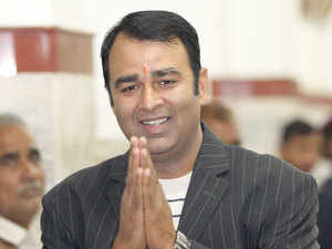 BJP MLA Sangeet Som comming to attend winter session of the state assembly in Lucknow.