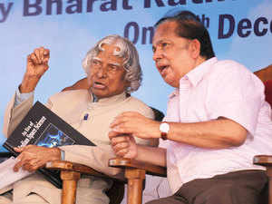 APJ Abdul Kalam with ISRO former Chairman G Madhavan Nair.