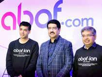 Prashant Gupta, President & CEO of abof.com, Kumar Mangalam Birla, Chairman, Aditya Birla Group and Kedar Apshankar, Deputy CEO of abof.com.