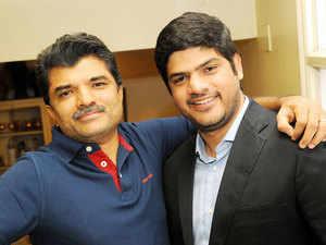 Rajesh Exports Chairman Rajesh Mehta with Siddharth Mehta, Rajesh Exports Limited, in Bengaluru.