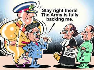 Ex-Pakistan president Pervez Musharraf.