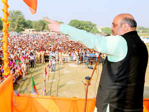 BJP chief Amit Shah has said that if his party loses the Bihar polls, people in Pakistan would celebrate by bursting crackers.