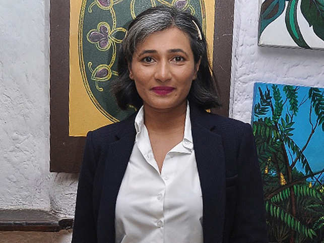"""""""I love my whites. They are part of my genes and I have no intention of covering them up,"""" says Parle Agro CEO Schauna Chauhan Saluja."""