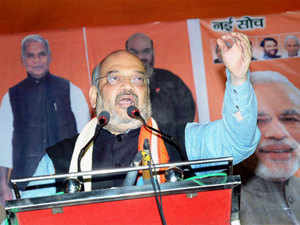 BJP Chief Amit Shah announced at a poll rally that if his party loses then people in Pakistan will celebrate by bursting crackers.