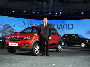Renaults Chairman and CEO Carlos Ghosn launches compact hatchback `Kwid` in Chennai.