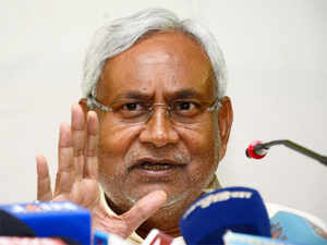"""""""Stop misleading people and your efforts to add communal colour to Bihar assembly Polls,"""" the Bihar CM tweeted."""