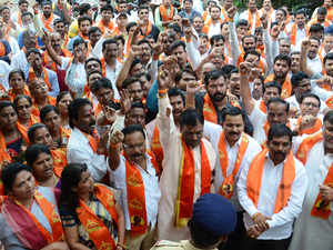 Shiv Sena today defended its Aurangabad MP Chandrakant Khaire who allegedly roughed up and abused a civic official for demolishing a temple as per court orders. (Representative image)